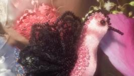 Брошь - райская птичка