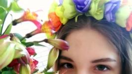 Ободок з тюльпанами