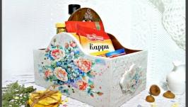 Короб для кухни ′Акварельная роза′