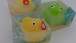 Детское мыло ручной работы ′Веселые рыбки′