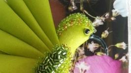 Брошь колибри ′Greenery′