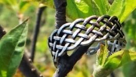 Кольцо в кельтском стиле из нейзильбера с регулируемым размером