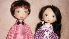 Майя и Кирюша,- текстильная парочка игровых кукол.