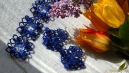 Серьги и браслет ′Синий бриз′