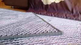 Коврик прикроватный с шерстью ручной работы в технике синель ′Инжирные Сны′
