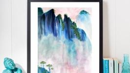 картина ′Горный пейзаж′