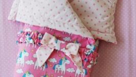 Детское одеяло-конверт Fairy unicorns