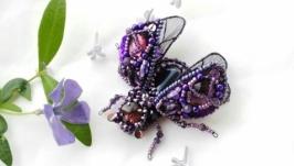 Брошь ′Фиолетовый жук′