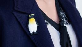 Брошь -пингвин