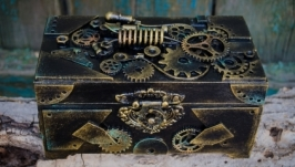 Шкатулка купюрница в стиле стимпанк, лофт ′Стиль времени′