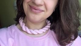 Колье ′Жгут′ розовый