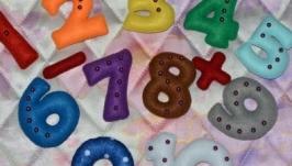 Набор цифр 0 - 10 и знаки , -, =