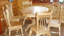 Комплект мебели из массива ясеня