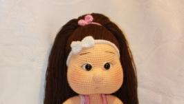 Вязаная кукла Кира