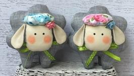 Набор мягких игрушек ручной работы ′Овечки - тучки′