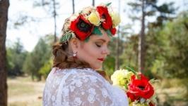 Веночек для невесты в украинском стиле