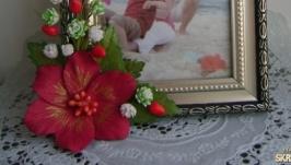 тут изображено Красный цветок