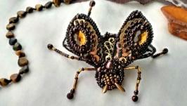 Брошь » Янтарный жук»