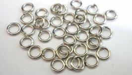Колечки соединительные, цвет темное серебро, 6 мм, 1 оборот, 5 грам