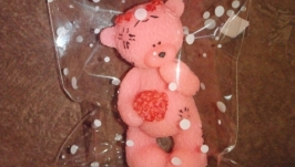 Элит-Мыло ручной работы мишка Тедди с букетом (3D форма)