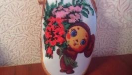 Фартушек для украшения бутылки ′Чебурашка′, 7 цветов бисера.