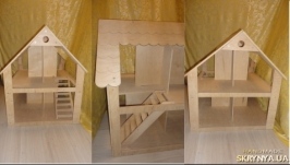Дом для куклы. Кукольный двухэтажный домик. Размер 85*78*64 см