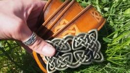 Ремень кожаный, кельтский орнамент