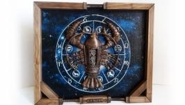 Интерьерное панно ′Знак зодиака рак′ Подарок мужчине на день рождения