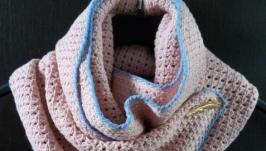 Весенний шарф крючком
