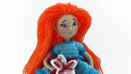 Вязаная куколка Марисель
