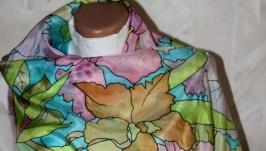 Шовкова хустка Орхідеї (orchids) Silk