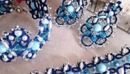 Комплект кружевных украшений Голубая мечта.