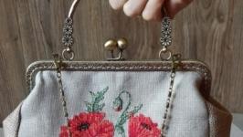 сумка на фермуаре ′Маки′