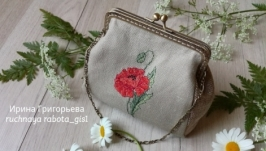 Миниатюрная сумочка на фермуаре ′Мак′