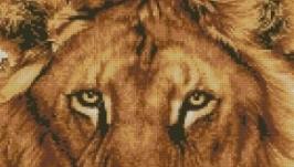Схема вышивки крестом Голова льва