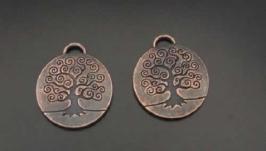 Подвеска кулон ′Дерево′ античная медь