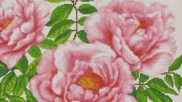 Схема вышивки крестом Нежные пионы