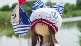 Текстильная интерьерная кукла Морячка