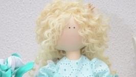 Текстильная интерьерная кукла Принцесса Николь