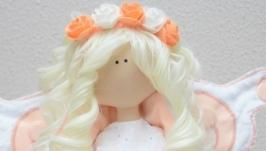 Текстильная интерьерная кукла-бабочка Лоли