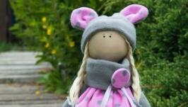 Текстильная интерьерная кукла Мышка