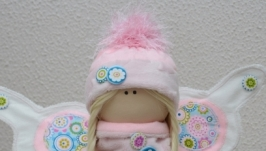 Текстильная интерьерная кукла Бабочка