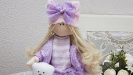 Текстильная интерьерная кукла Бусинка