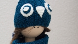 Текстильная интерьерная кукла Совушка