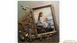 Фоторамка морская Настенный морской декор Сувениры в морском стиле