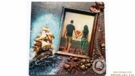 Морская фоторамка ′Я люблю моряка′ Ручная работа Сувениры морской тематики