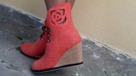 Ботиночки из шерсти Абрикоска
