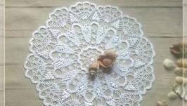 Вязаная салфетка крючком- Морская жемчужина