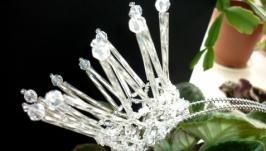 Корона-ободок ′Принцесса′ серебристая