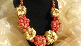 Колье ′Золотые цветы′